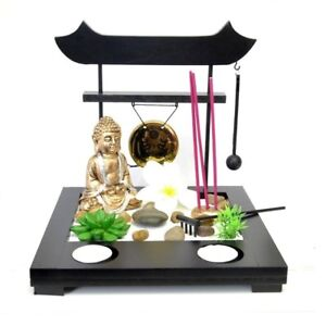 deko set mini zen garten buddha asia tempel pagode entspannung feng shui siam ebay. Black Bedroom Furniture Sets. Home Design Ideas