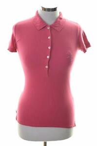 Lee-Womens-Polo-Shirt-Size-10-Small-Pink