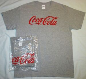e1858dfd1c9f NEW Coca-Cola Classic CURSIVE Logo T-SHIRT Men's L Adult Uni LG GRAY ...