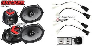 kicker 44ksc6804 6x8 speakers with wiring harness fits. Black Bedroom Furniture Sets. Home Design Ideas