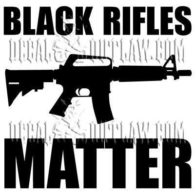 Black Rifles Matter AR15 assault rifle NRA 2A 2nd Ammedment vinyl sticker decal