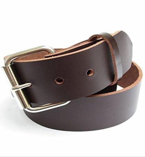"46-72 Big /& Tall Mens Heavy Duty Dark Chocolate Brown Leather Belt 1 3//4/"" Wide"
