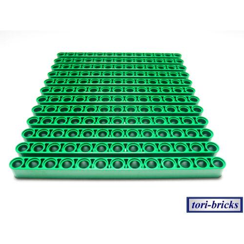 1x13 grün 12 Stück »NEU« # 41239 dick Länge 13 Lego Technik Liftarm breit