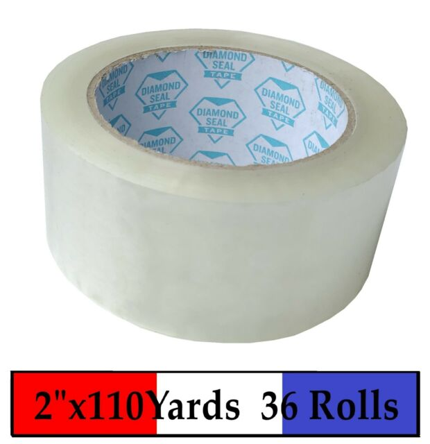 """36 Rolls Clear Packing Packaging Carton Sealing Tape 2 Mil Thick 2/"""" x 110 Yards"""