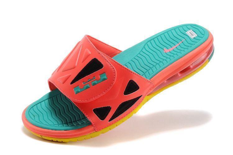 NIKE AIR MAX LEBRON SLIDE 2 ELITE Mango Green Pink South Beach Men Sandals sz 13