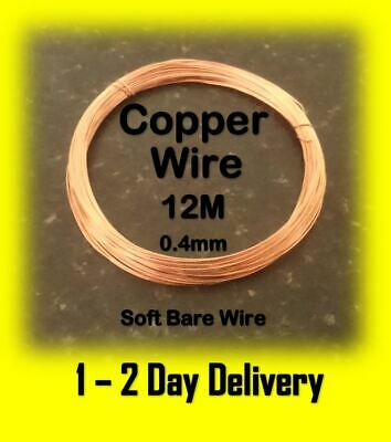 Bare Copper Wire Craft Wire 12 Metres 0.4mm  Soft Modelling Hobbyist