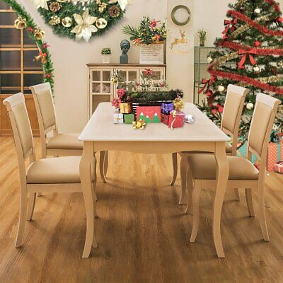 Table And 4 Chairs Rubber Wood