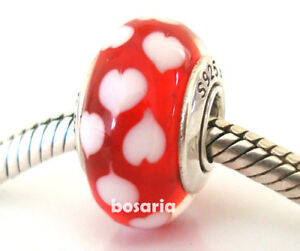 925 Sterling Silver Heart to Heart Charm Bead Fits European Charm Bracelet Pendant