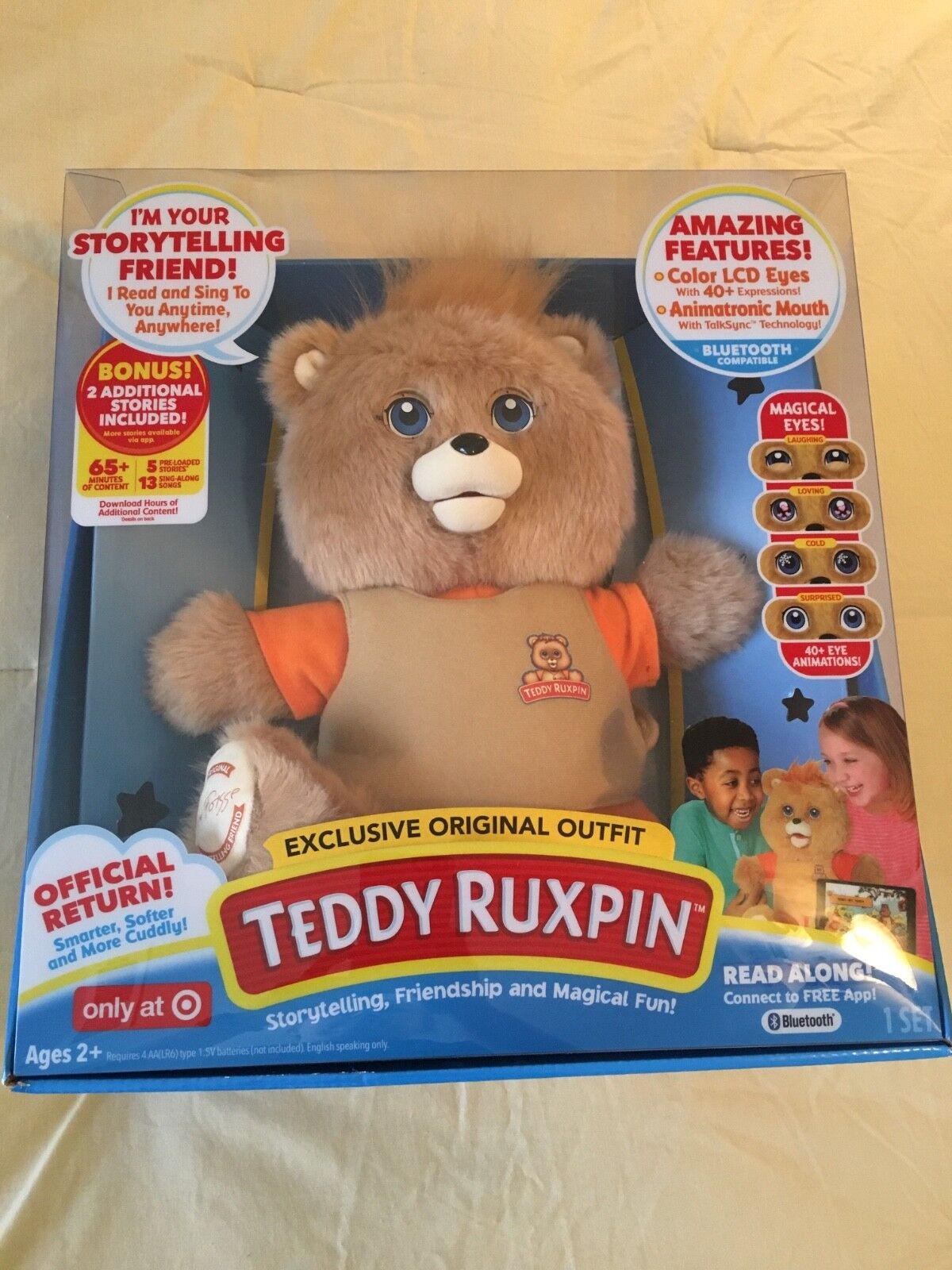 Teddy Ruxpin 2017 Target Exclusive Retro Outfit Talking Storytime Bear Fast Ship