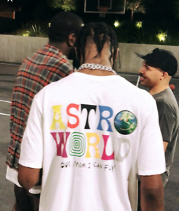 db2098f9892 TRAVIS SCOTT ASTROWORLD T-SHIRT white tour concert merch off hip hop ...