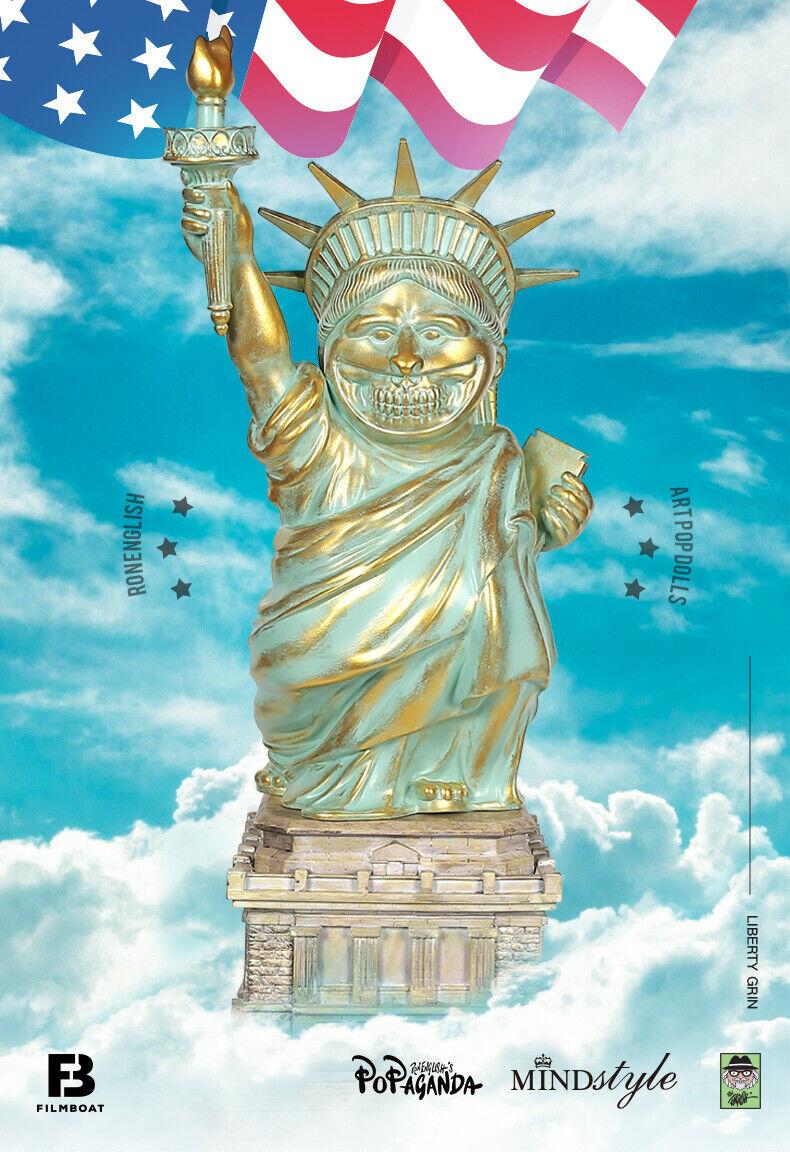 RON ENGLISH American Mindstyle Liberty Popaganda GRIN figure Art toy