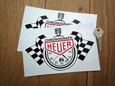 "Heuer Cronógrafo Cronómetro Classic Race Car Stickers 8"" Par De Rally De Carreras F1"