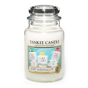 ☆☆MERRY MARSHMALLOW☆☆ LARGE YANKEE CANDLE JAR~FREE SHIPPING☆