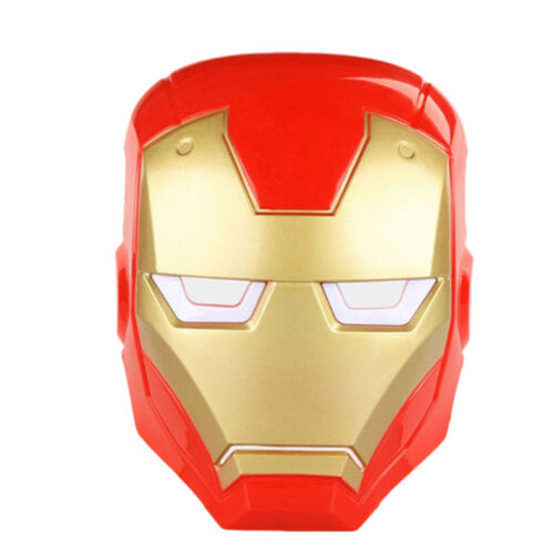 Kids Child LED Glowing Superhero Iron Man Hulk Batman Movie Cosplay Mask Toy