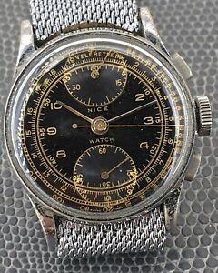 Nice-Watch-Venus-170-Chronograph-Working-Telemetre-Km-1-4in-11251-Vintage-Watch