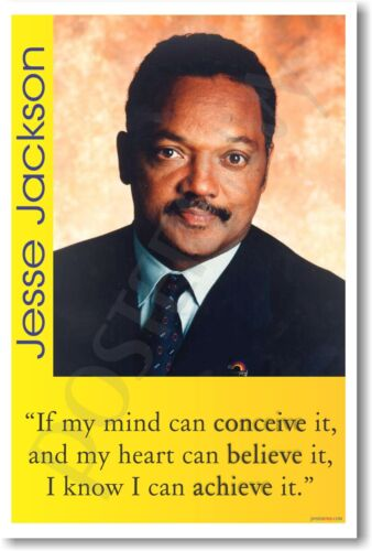 """/""""If my mind can conceive it.. Jesse Jackson NEW MOTIVATIONAL POSTER"""