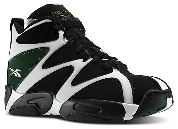 NEW 2014 REEBOK KAMIKAZE I 1 RETRO SHAWN KEMP SONICS BLACK GREEN SNEAKERS 10.5