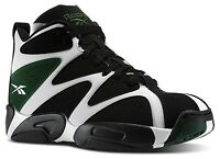 2014 Reebok Kamikaze I 1 Retro Shawn Kemp Sonics Black Green Sneakers 10.5