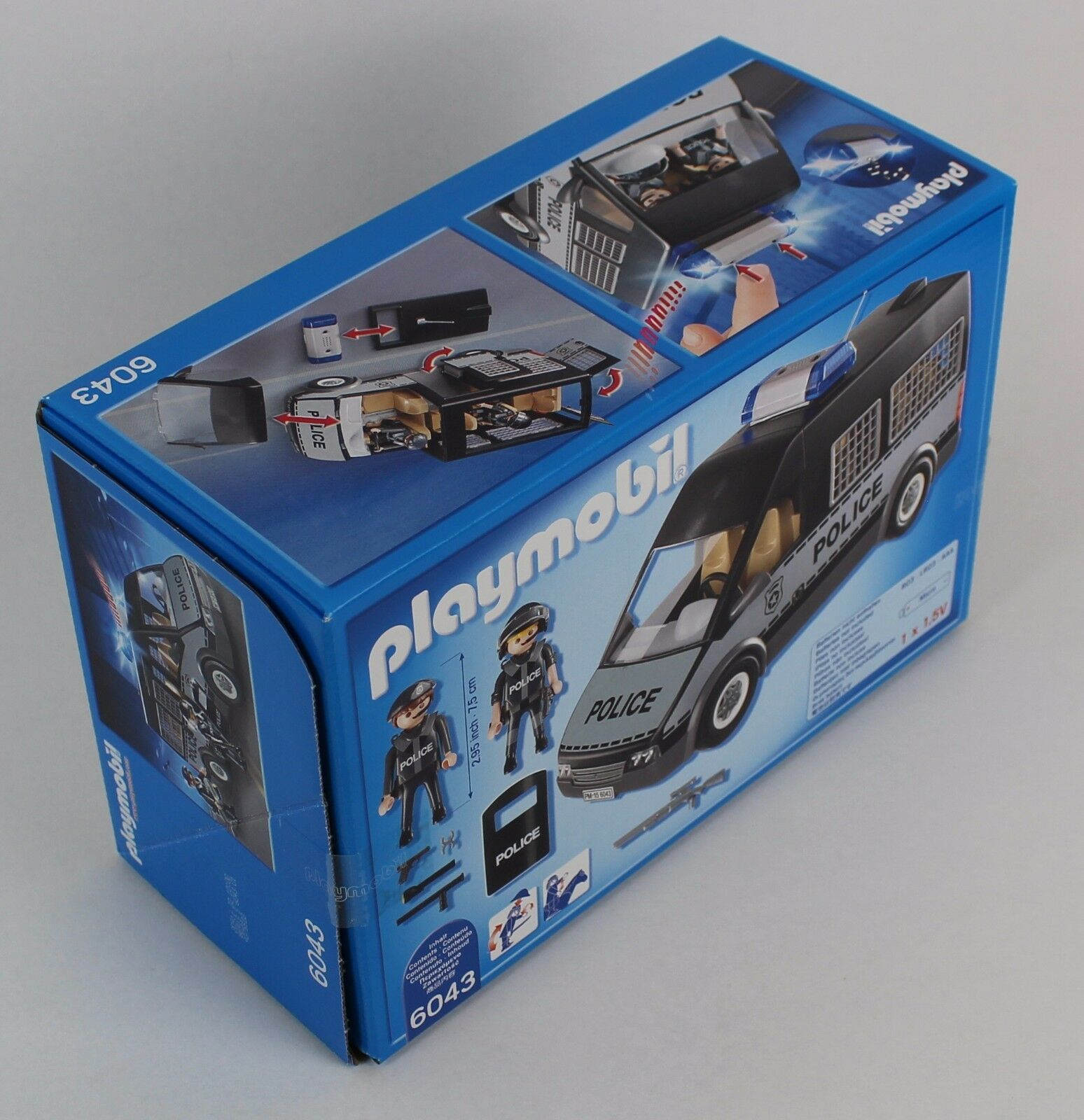 PLAYMOBIL 6043 Polizei-Mannschaftswagen mit Licht und Sound pastzu 6872 9236 9236 9236 NEU 93c194