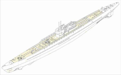 Hobbyboss 83508-1:350 German Navy Type IX-C U-Boat Neu