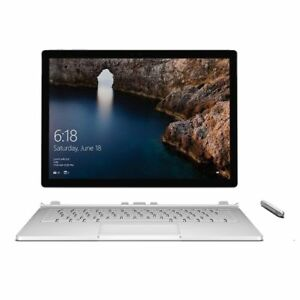 "Microsoft Surface Book 13.5"" Touch 2 in 1 Intel i5-6300U 256GB SSD 8GB Win 10pro"