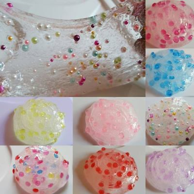 Clear Fluffy Glitter Slime Non Toxic//No Borax Stress Relief Toy Scented 70g