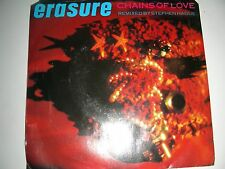 Dance 45  Erasure Chains Of Love / Don't Suppose Sire Picture Sleeve VG+ NM 1988