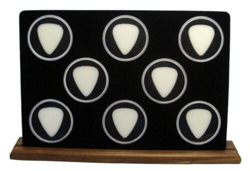 Guitar Picks Maple Wood Display Stand For Eight 100/% MADE IN USA Black 8