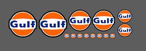 Adesivi-logo-Gulf-pegatinas-autocollants-stickers-retro-vintage-race-moto