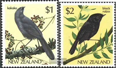 Neuseeland 931-932 kompl.ausg. Postfrisch 1985 Vögel Tropf-Trocken