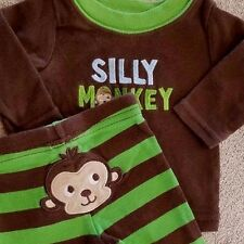 SWEET! BABY CHILD OF MINE BY CARTER'S NEWBORN 2PC SILLY MONKEY OUTFIT