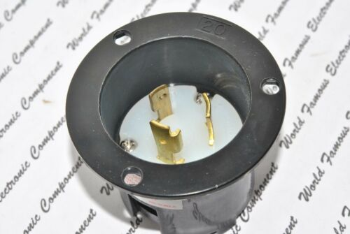 COOPER CWL620FI NEMA L6-20 20A 250V Hart-Lock Locking Flanged Inlet 2P 3W 1pcs