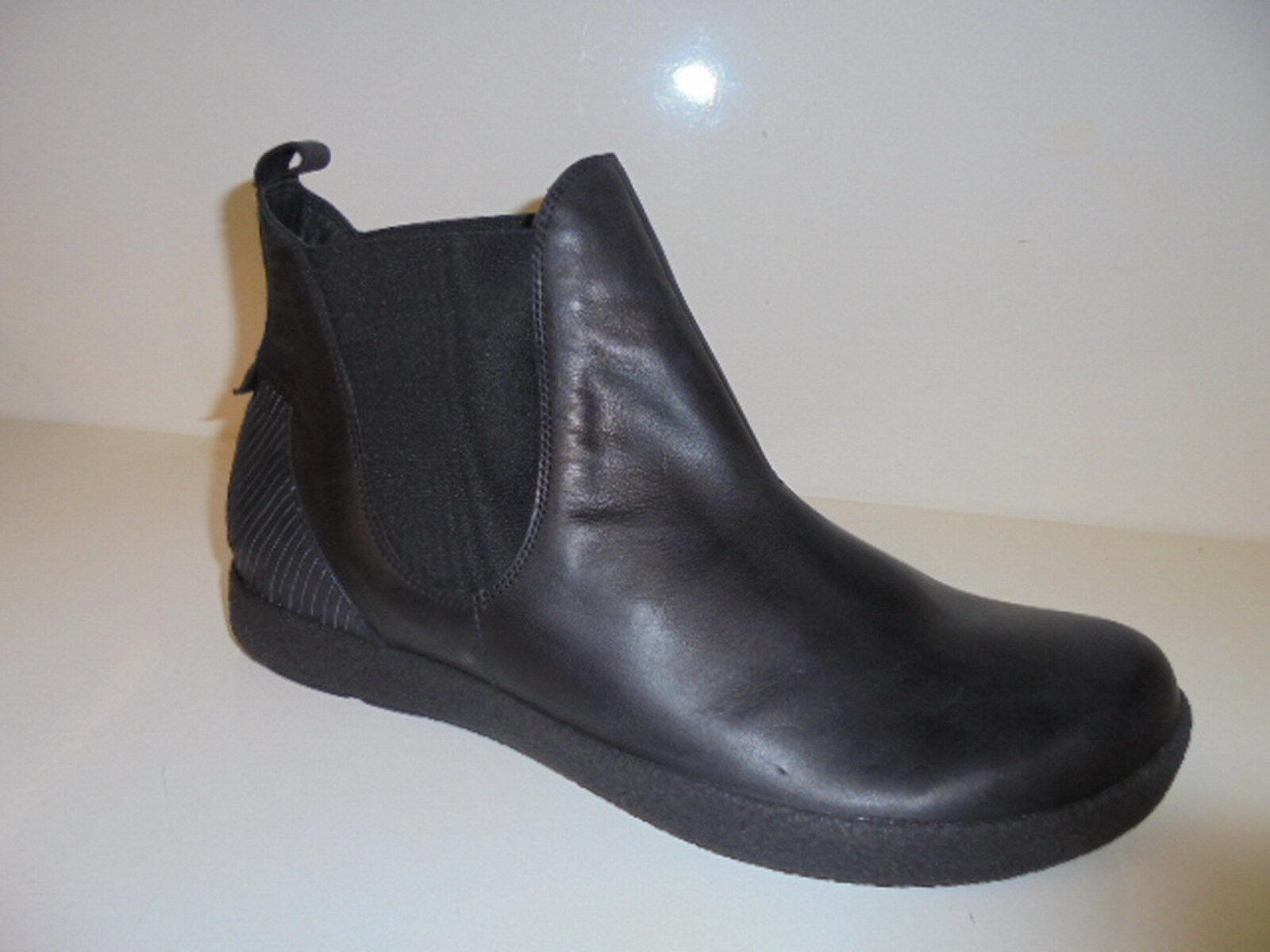 THINK! Herrenschuhe Boots schwarz Leder für Einlagen Gr.44 Art.87646