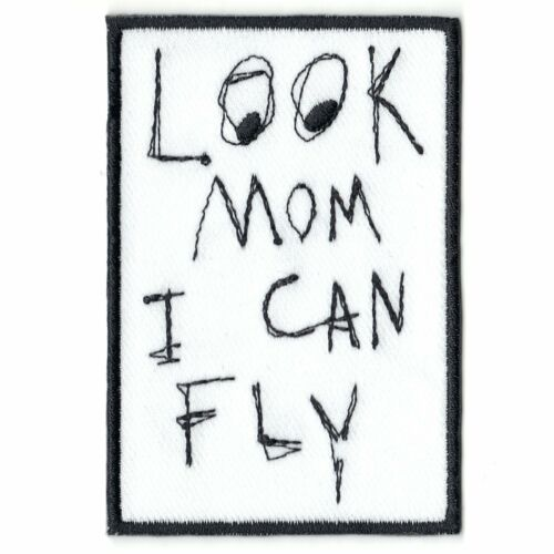Look Mom I Can Fly Box Logo Embroidered Iron On Patch