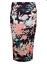 "Ex Miss Selfridge Navy Oriental Floral Midi Extensible Jupe Crayon-longueur 27/"""