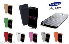 3D piel cubierta de pegatinas de Fibra de Carbono Con Textura Vinilo caso para Samsung Galaxy S8 S8+