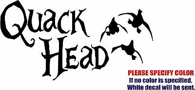 Quack Head Duck Hunting Car Window Vinyl Decal Sticker