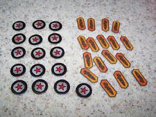 Lot of 7 RISK LEGACY RED STAR & MISSILE TOKENS Parts Pieces Replacements NEW