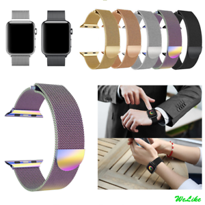 Nuevos objetos diseño novedoso calidad real Details about For Apple Watch Series 3 2 1 Magnetic Milanese Stainless  Wrist Band Strap 38/42