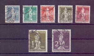 Berlin 1949 - UPU Stephan - MiNr. 35/41 rund gestempelt - Michel 320,00 € (366)