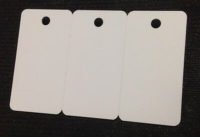 CR80 30 Mil 500 Blank White 3-UP Breakaway Keytag PVC Cards Graphics Quality