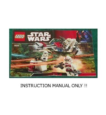 *custom* Lego Star Wars Senate Chamber INSTRUCTION MANUAL ONLY