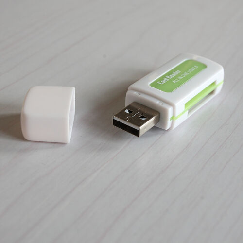 2 Pcs Protable 4 in 1 Memory Multi Card Reader USB 2.0 for SD//TF//T-Flash//M2B TO