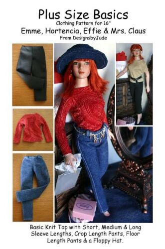 Plus Size Basics Doll Clothes Sewing Pattern Emme Hortencia Tonner