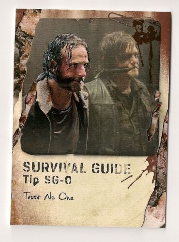 2016 TOPPS THE WALKING DEAD SURVIVAL BOX SURVIVAL GUIDE #SGO RICK DARYL #0325