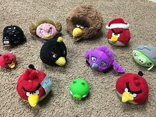 Angry Birds Plush Lot LICENSED Rovio Star Wars, Rio, Pigs, Red Bird, USA Stuffed