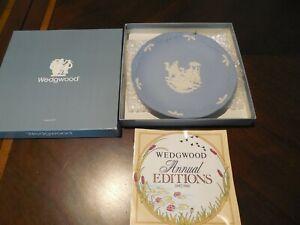 WEDGWOOD-Vintage-Collectible-Plate-NEW-w-certif-in-origin-box-Blue-White-Bonus