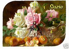 horloge pendule murale roses anciennes prénom choix réf F 32