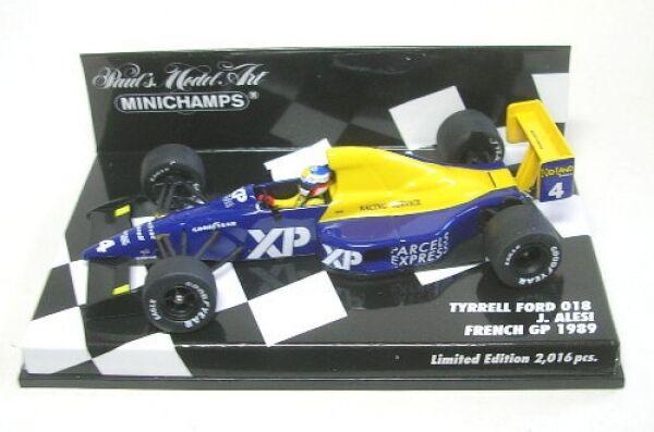 Tyrell Ford 018 No. 4 Jean Alesi FRENCH GP GP GP 1989 1 43 387430