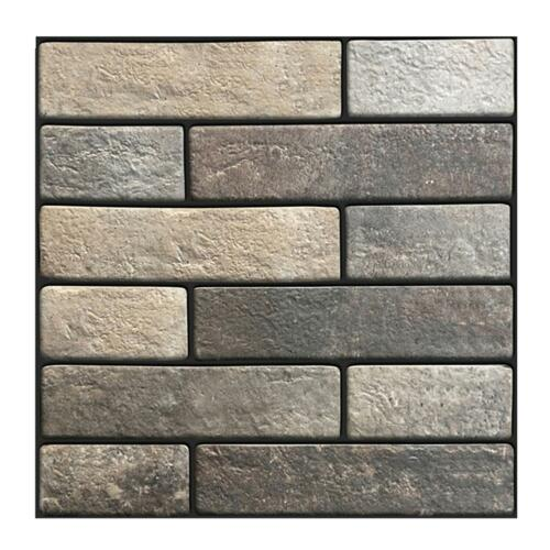 Rustic 3D Wall Decals Geometry Brick Stone Self-Adhesive Wall Sticker Decor Gift